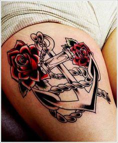 ancora com rosas tattoo - Pesquisa Google