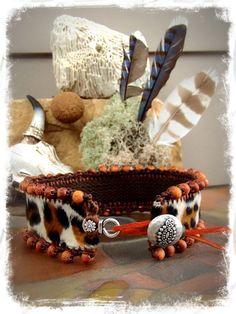 Wild Thing LEOPARD Choker Pelz kragen Halskette Native von GPyoga