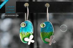 Butterfly Enamel Earrings Silver 925 white Gold-plated Handmade Jewelry Best Ideas Gifts for her Birthday Anniversary Mother's Day Jewelry Art, Fine Jewelry, Greek Art, Sterling Silver Earrings, Belly Button Rings, Gifts For Her, Handmade Jewelry, Enamel, White Gold