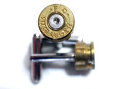 Bullet Shell Cufflinks 9mm F.C. two tone Brass with Nickel Silver center Artifacts N Relics http://www.amazon.com/dp/B008LY8KGI/ref=cm_sw_r_pi_dp_K3wVub1A577BS