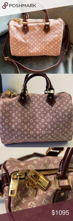 Louis Vuitton Mini Lin Speedy Bandouliere Bag Excellent condition! Authentic  30 cm Louis Vuitton Speedy 5821976de3be3