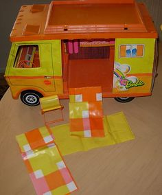Vintage BARBIE 1970'S COUNTRY CAMPER with ACCESSORIES - We spent hours playing with this