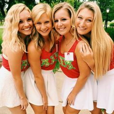 what they're wearing ~ cute skirts & tanks to... | sorority sugar