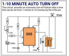 Auto turn-off Electronics Mini Projects, Electronics Basics, Hobby Electronics, Electrical Projects, Electronics Components, Engineering Science, Electronic Engineering, Electrical Engineering, Electronic Circuit Design