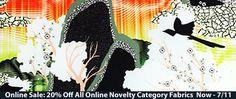 20% Off All Online Novelty Category Fabrics Now - 7/11 Online only! https://www.britexfabrics.com/fabric/fashion-novelty-fabric.html #fabricsale #onlinesale #sale #britexfab #fabrics #fabric