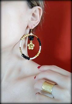 Big Hoop Earrings, Extra Large Hoops, Loop Earrings, Vintage Hoop Earrings, Gold Hoops