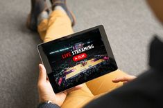 Man Watching Sports On Live Streaming Online Service Stock Image - Image of broadband, playoffs: 110532725 Fiber Internet, Hbo Go, Marketing Words, Play N Go, Streaming Sites, Mean People, Fibre, Disney, How To Find Out