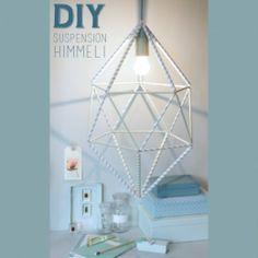 DIY : une suspension Himmeli en pailles - Connaissez-vous la technique de l'Himmeli ? Ce savoir-faire ancien venu des pays nordiques consiste à fabriquer des décorations avec des tiges...