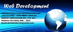 Developaweb Is Best software company and any website related issues then go Developaweb  web site go  this portal is provide best Development services like Vancouver Website Design,Web Design company Vancouver, Development, and Internet Marketing Agency, Developaweb, Vancouver web design company works on your project from the beginning till get it into the Google first page whether it's a simple website design http://www.developaweb.com