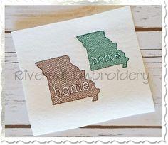 $2.95Small Sketch Style Missouri Home Machine Embroidery Design