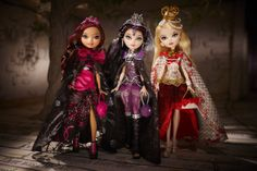 Ever After High Dolls in Legacy Day dresses: Briar, Raven and Apple!