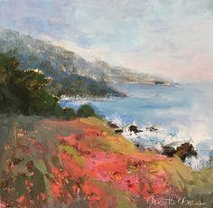 Summer Postcard by Janette Jones Oil ~ 8 x 8 California Art, Landscape Paintings, It Works, Oil, Summer, Summer Time, Landscape, Nailed It, Landscape Drawings