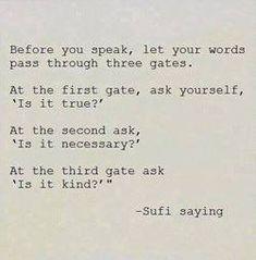 the three gates of speech Sufi - Google Search