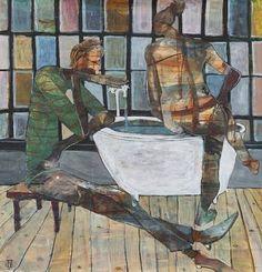"Saatchi Art Artist Ilya Volykhine; Painting, ""Ipse Lotus Aqua Domenica - Sunday Bath, 2014"" #art"