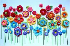 Amber's Creaties: Heerlijk bloemen haken