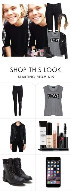 """""""Day with Ash (my boyfriend)"""" by fxrever-isnt-for-everyone ❤ liked on Polyvore featuring H&M, Carmakoma, Maje and Smashbox"""