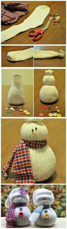 Cute snowman made out of a sock !!