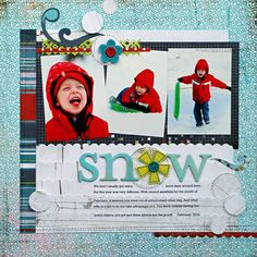 *Snow* BasicGrey OLIVER - Scrapbook.com