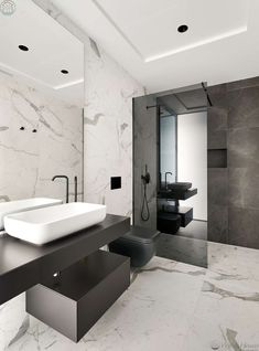 Modern bathroom design 415527503121560053 - Stunning Modern Seafront Designer Villa in Costa Dorada Source by Bathroom Design Luxury, Bathroom Layout, Modern Bathroom Design, Home Interior Design, Small Bathroom, Bathroom Designs, Master Bathrooms, Dream Bathrooms, Grey Marble Bathroom