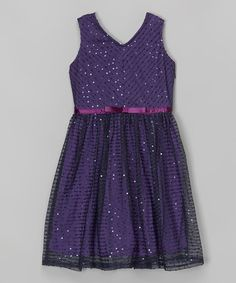 This Purple Sequin Dress is perfect! #zulilyfinds