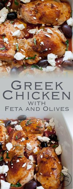 Easy Chicken Recipes, Turkey Recipes, Dinner Recipes, Greek Style Chicken, Planning Menu, Greek Dishes, Cooking Recipes, Healthy Recipes, Sauce Tomate