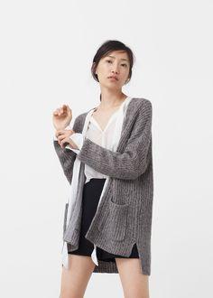 Chunky knit cardigan | MANGO