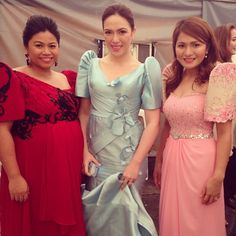 .@candy_medina | Oath Taking Ceremony, Quezon City Officials. @dior_snow @ddoralicious | Webstagram - the best Instagram viewer Modern Filipiniana Dress, Filipiniana Wedding, Wedding Gowns, Bridesmaid Dresses, Prom Dresses, Formal Dresses, Dress Outfits, Fashion Outfits, Sleeve Designs