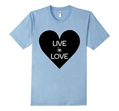 Men's Live in Love Inspirational T-shirt 2XL Baby Blue Mo…