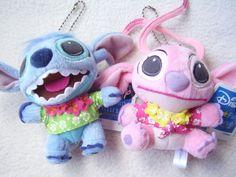 "Disney LiLo & Stitch Hawaiian aloha shirt Mini Plush Doll Charm SET SEGA JAPAN NEW, size >> About 3.5"" - 3.7"" (9 - 9.5cm) in height 17.99-19.99 (5.50/5.90/6.50)"