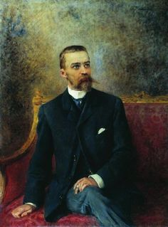 """Маковский Константин.""""Портрет А.Г.Кузнецова"""" 1890-е"""