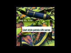 Ikat Patola Silk Saree Price 910/- Rs| |Patan patola double ikkat print ... Printed Sarees, Buying Wholesale, Ikat, Silk Sarees, Make It Yourself, Design