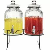Dispensador De Bebidas De Cristal Con Base