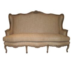 View this item and discover similar for sale at - A beautiful, hand-carved gilded canape, sofa from France. The frame is in its original finish and it has been newly upholstered in a stone grey silk, the Inexpensive Furniture, Cheap Furniture, Furniture Ads, Furniture Stores, Furniture Buyers, Furniture Websites, Unique Furniture, Luxury Furniture, Furniture Design