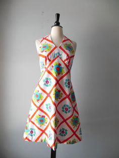 vintage 60's floral sundress // cotton puckered by RockThatFrock, $69.00