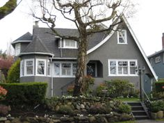 gray exterior house photos | love the pop that a grey house with white trim makes grey looks ...