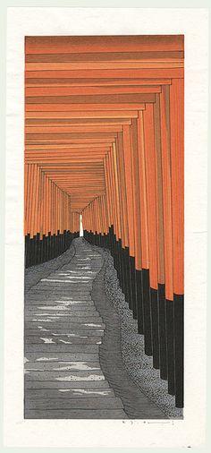 Teruhide Kato - The 1000 torii at Kyoto's Fushima Inari shrine