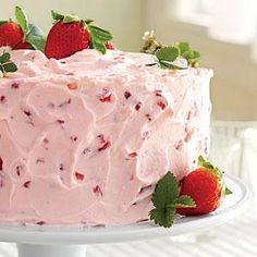 crown your favorite springtime dessert with strawberry frosting that 39 s