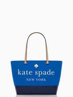 Love this navy Kate Spade tote