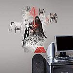 5 in. W x 19 in. H Star Wars EP VII Villians Burst Peel and Stick Giant Wall Decal, Multi ideen wandgestaltung dunkles bett RoomMates 5 in. W x 19 in. H Star Wars EP VII Villians Burst Peel and Stick Giant Wall Decal - The Home Depot Wall Stickers Stars, Star Wars Stickers, Wall Stickers Wallpaper, Room Stickers, Boys Star Bedroom, Star Wars Bedroom, Bedroom Wallpaper Murals, Wall Decals For Bedroom, Star Wars Room Decor