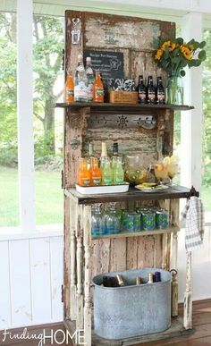 Love this repurposed door!