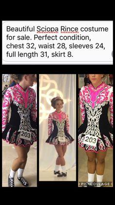 Pretty Pink Siopa Rince Irish Dance Dress Solo Costume For Sale