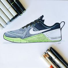 NIKE METCON 1 | DARK GREY WHITE VOLT BLACK #id #industrial #product #design #sketch #idsketch