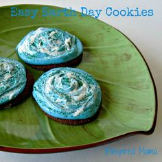 Earth Day Cookies Easy Enough for Kids from B-InspiredMama.com