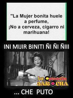 La mujer bonita huele a perfume. No a cerveza, cigarro ni marihuana!!