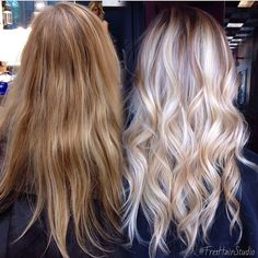 Ombre-Balayage-Hairstyles-for-Long-Hair-Ice-Blonde-Highlights - Neue Frisuren Ice Blonde Highlights, Icy Blonde, White Blonde, Blonde Color, Hair Color And Cut, Stylish Hair, Looks Style, Great Hair, Hair Day