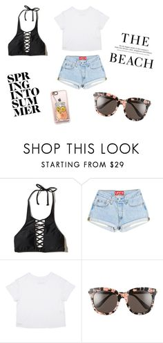 """Summer 5"" by bre-winter ❤ liked on Polyvore featuring Hollister Co., H&M, Gentle Monster and Casetify"