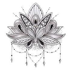 Buddhist Lotus Flower Tattoo Design photo - 2