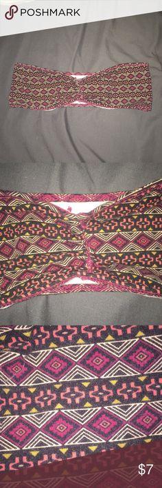 Bandeau Tribal print bandeau!! Super cute and trendy Garage Intimates & Sleepwear Bandeaus