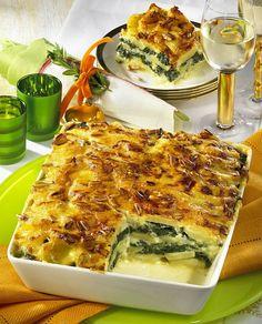 Unser beliebtes Rezept für Kartoffel-Spinat-Lasagne und mehr als 55.000 weitere kostenlose Rezepte auf LECKER.de.