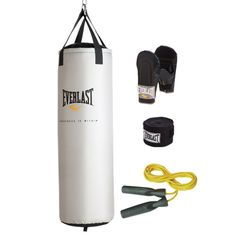 """#getinthegame Tough 80 lb """"Nevatear"""" heavy bag Complete with bag gloves, hand wraps and jump rope Recommended Weights: Choosing a Heavy Bag Must present Hot Deals Coupon in store to receive special Value Price. *Exclusions: Cannot be used with any other offer, coupon, current sale or clearance product. While supplies last. Only one coupon applied per …"""